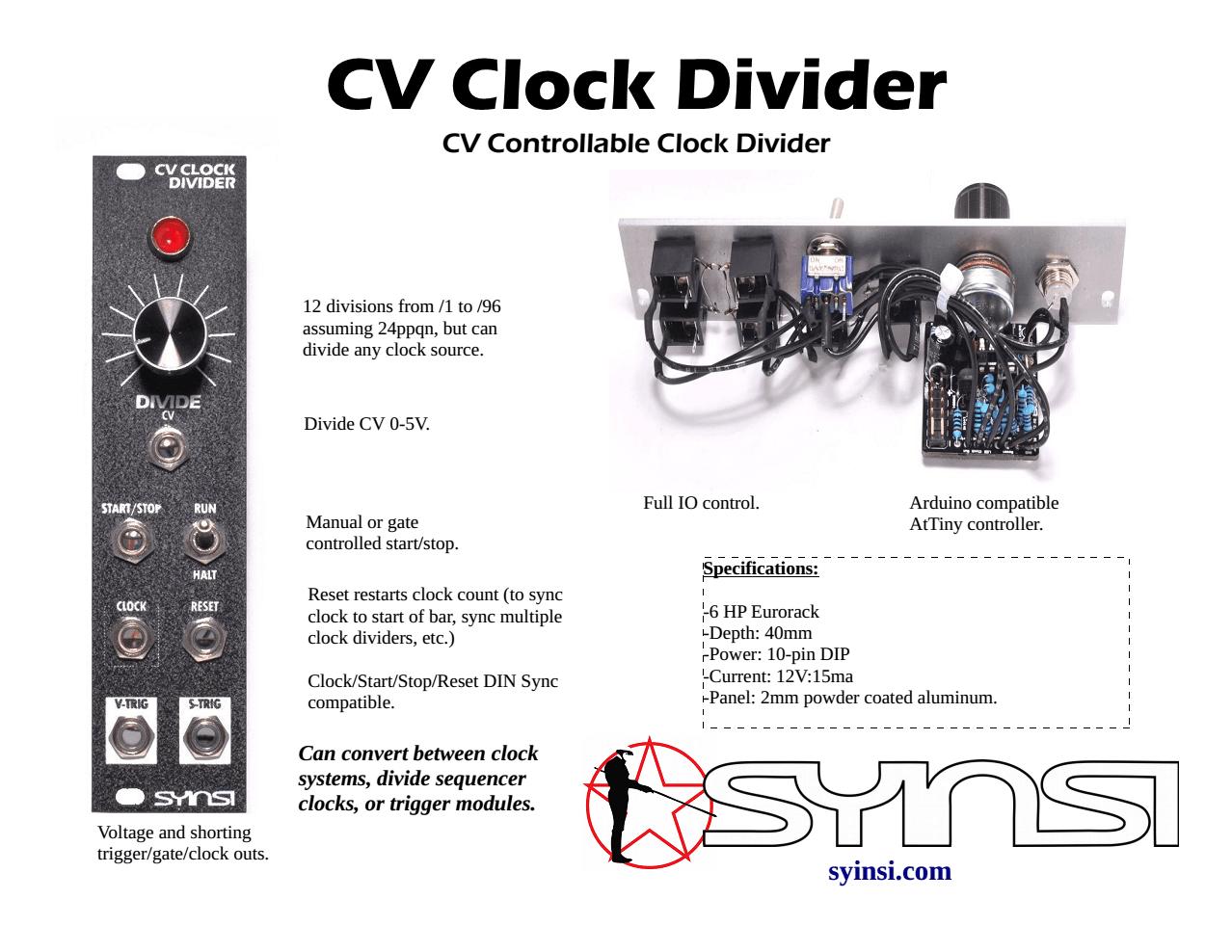 CV Clock Divider - SYINSI