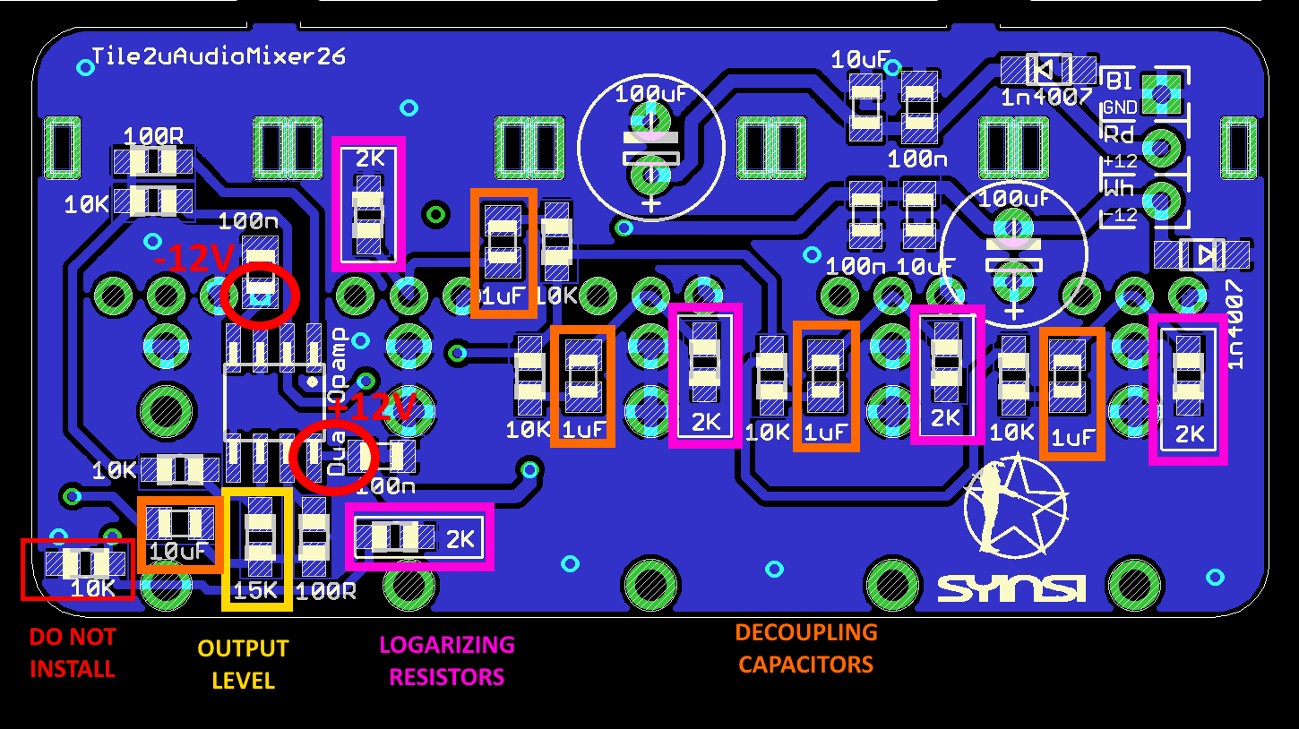 Building The Miniaudiomixer Tile Syinsi Audio Mixer Circuit Schematic